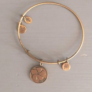Alex and Ani Friend flower bracelet